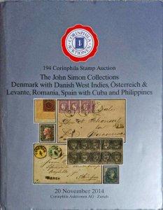 Auction Catalog John Simon DENMARK DANISH WEST INDIES Austria Spain Philippines
