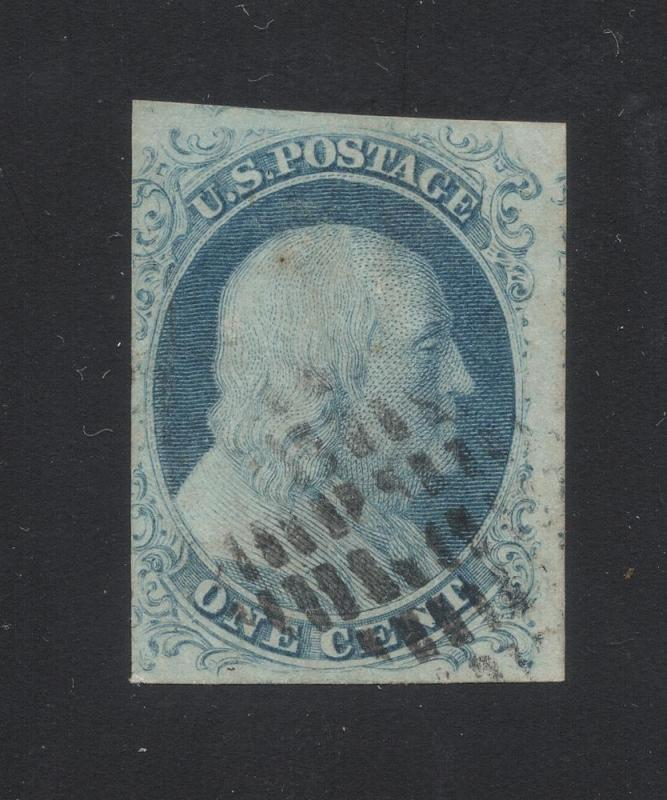 US#7 Blue - Type II - Neat Cancel - Cat.$160.00