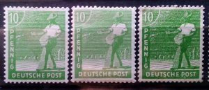 Germany Allied Occupation Mi 946 abc mnh