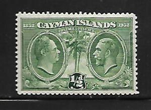 CAYMAN ISLANDS, 70, MINT HINGED, KING WILLIAM IV, KING GEORGE V