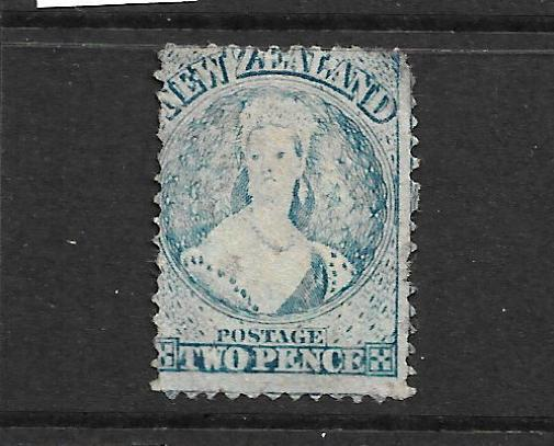 NEW ZEALAND 1864-67  2d  BLUE   FFQ  MLH  P12 1/2   CP A2M   SG 113 CHALON