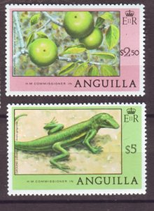 J22380 Jlstamps 1977-8 anguilla 2 better parts of set mh #288-9 wildlife