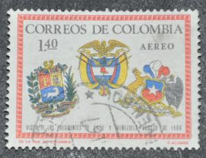 DYNAMITE Stamps: Colombia Scott #C485 – USED