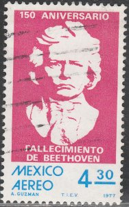 MEXICO C542, Sesquicentennial of death of Beethoven Used. VF.  (658)
