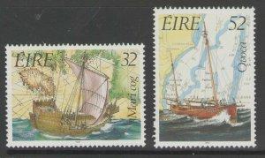 IRELAND SG837/8 1992 IRISH MARITIME HERITAGE MNH