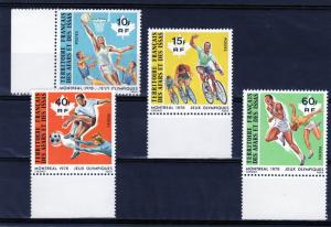 French Afars & Issas 1976 Montreal Olympics Set (4) Bicycling etc Sc#423/6 MNH