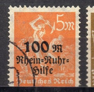 Germany 1923 Early Issue Fine Used 100M. Surcharged NW-96299