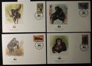 Sierra Leone 1983 FDC WWF chimpanzees animals apes mammals