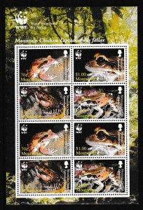 Montserrat - WWF - ANIMALS - S.S. - MNH