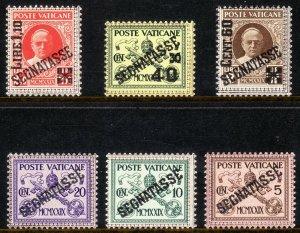 1931 Vatican City Rome  MNH complete postage due set (6) Sc# J1 / J6 $235.00