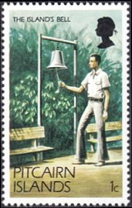 Pitcairn Islands # 163 mnh ~ 1¢ Man Ringing Island Bell