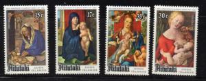 Aitutaki Sc 167-70 1978 Christnas stamp set mint  NH