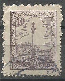 POLAND, 1925, used 10g, Buildings, Scott 231
