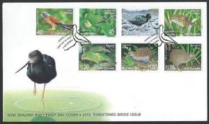 NEW ZEALAND 2000 Threatened BIRDS commem FDC...............................60642