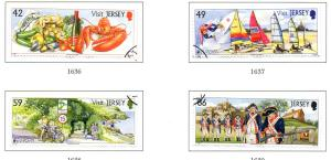 Jersey Sc 1565-8 2012 Europa Tourism stamp set used