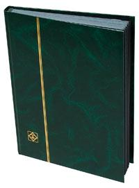Lighthouse Stockbook, 32 Black Pages, Green Cover, 01342