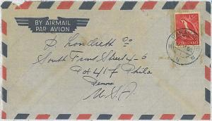 BIRDS - POSTAL HISTORY - SURINAME : STAMPS on COVER 1956