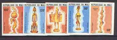 Mali 1981 statuettes set of 5 including fertility symbols...
