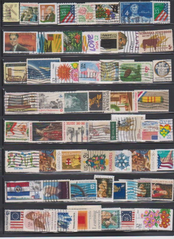 LOT OF DIFFERENT STAMPS OF USA USED (57) LOT#US618