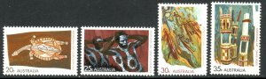 AUSTRALIA 1971 ABORIGINAL ART Set Sc 504-508 MNH