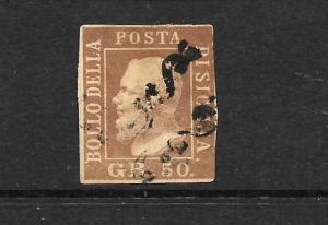 SICILY  1859   50g   BROWN LAKE  FU  SG 7