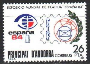 Andorra. 1984. 174. Philatelic exhibition in Spain-84. MLH.