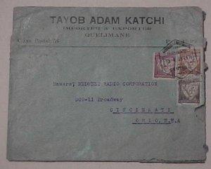 MOZAMBIQUE   QUELIMANE 1935 TO USA