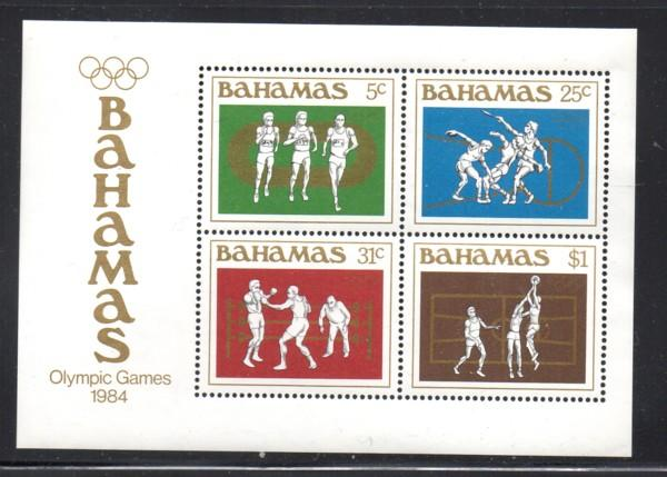 Bahamas Sc 562a 1984 Summer Olympics stamp sheet mint NH