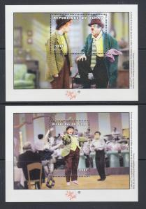 Chad Sc 865-867 MNH. 2000 I Love Lucy, cplt set of 3 sheets, VF.  Lucille Ball