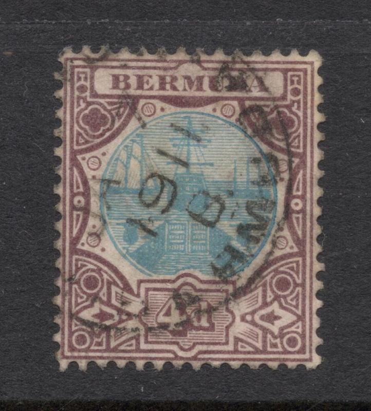 Bermuda #39 Violet Brown & Blue - 1911 Bermuda Cancel