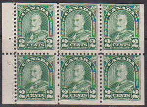 Canada - 2c Green Pane of 6 mint #164a