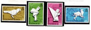 British Solomon Islands Scott 272-275 UPU Origami set