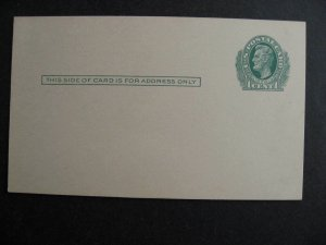 USA UX26 stationery mint, not pre printed, pencil erased on back check it out!