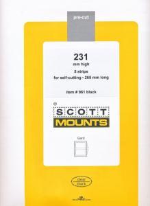 Prinz Scott Stamp Mount 231/265 BLACK Background Pack of 5