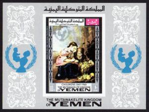 Yemen (Kingdom) Mi Block 133 (#599) mnh - 1968 s/s imperf - Mother's Day