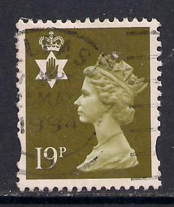 Northern Ireland GB 1993 - 2000 QE2 19p Bistre Machin C/B SG NI 69 ( C765 )