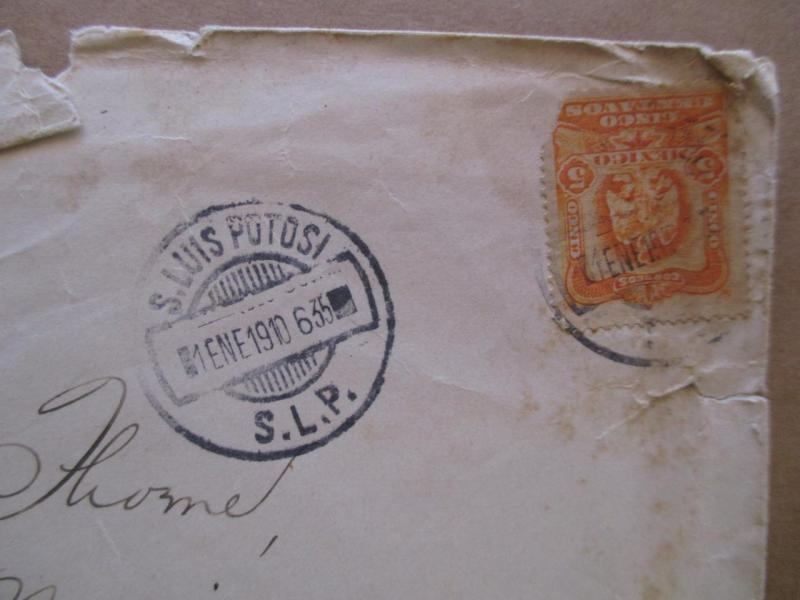 1910 Mexico To USA Cover - (XX120)