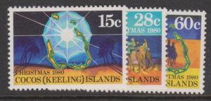 Cocos Keeling Islands Sc#53-55 MNH