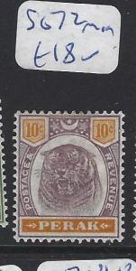 MALAYA  PERAK   (PP2507B)  TIGER 10C   SG  72   MOG