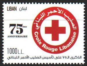 Lebanon. 2020. Red Cross. MNH.