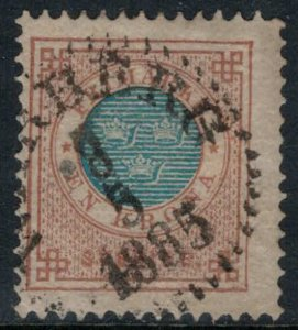 Sweden #38  CV $20.00  May 8, 1885 cancellation