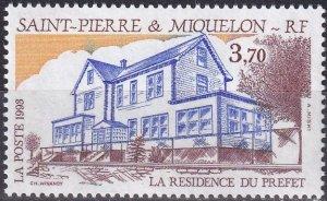 St Pierre & Miquelon #595 MNH