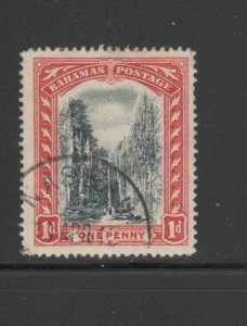 BAHAMAS #48  1916  1p QUEENS STAIRCASE    F-VF USED