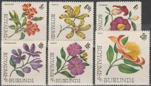 Burundi #148-53 MNH F-VF CV $5.40 (SU4302)