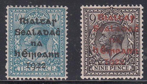 Ireland Scott 8, 11 Mint hinged (Catalog Value $52.50)