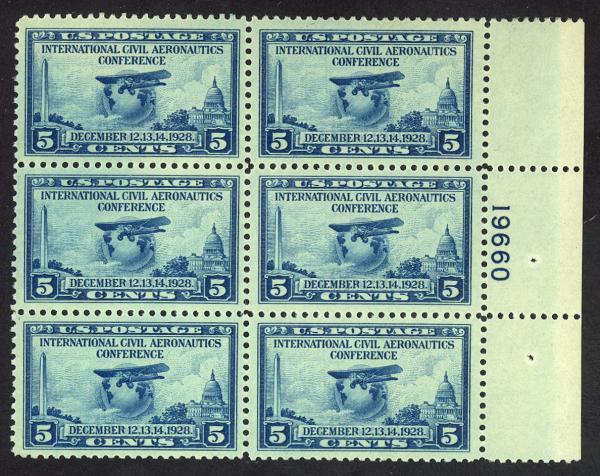 #650, Mint PB/6, XF-OG-NH, Nice balanced margins!