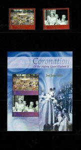 British Antarctic Territory: 2003, 50th Anniversary, Coronation,  MNH set + M/S