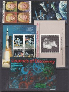 MARSHALL ISLANDS ( Us Trust)^^^x3  MNH   BOOKLETS +  (TOPICALS ++)  $$ @sc431mar