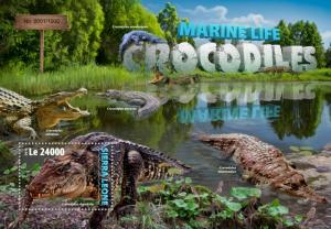 Sierra Leone MNH S/S Crocodiles Reptiles 2016