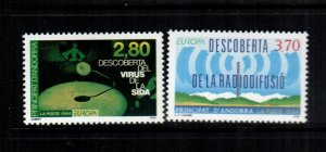 Andorra  436 - 437 MNH $ 4.50